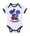 Geboorte kadootjes Mickey romper wit