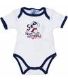 Geboorte kadootjes Snoopy romper wit/navy